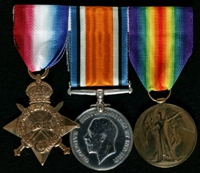 William Henry Martin : (L to R) 1914-15 Star; British War Medal; Allied Victory Medal