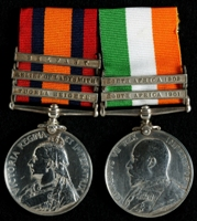 J. Martland : Queen's South Africa Medal with clasps 'Tugela Heights', 'Relief of Ladysmith', 'Belfast'; King's South Africa Medal with clasps 'South Africa 1901', 'South Africa 1902'