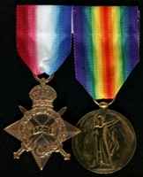 Samuel Mather : (L to R) 1914-15 Star; Allied Victory Medal