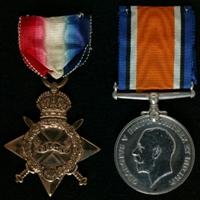 Charles Campbell May : (L to R) 1914-15 Star; British War Medal
