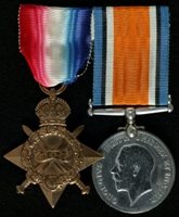 Edward McDermott : (L to R) 1914-15 Star; British War Medal