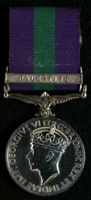 John Benjamin McGauley : General Service Medal 1918-62 with clasp 'Palestine'