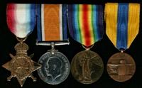 Bernard McGuinness : (L to R) 1914-15 Star; British War Medal; Allied Victory Medal; Médaille Commémorative des Batailles de la Somme