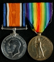 William Marshall McNaughton : (L to R) British War Medal; Allied Victory Medal