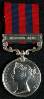 Frederick Lawrence Neal : India General Service Medal (1854) with clasp 'Samana 1891'