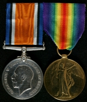 William Henry Newman : (L to R) British War Medal; Allied Victory Medal