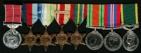 Samuel Newton : (L to R) British Empire Medal (Military Division); 1939-45 Star; Atlantic Star; Africa Star with clasp 'North Africa 1942-43'; Pacific Star; 1939-45 Defence Medal; 1939-45 War Medal; Efficiency Medal