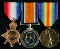 William Newton : (L to R) 1914-15 Star; British War Medal; Allied Victory Medal