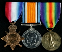 Frank Bleakley Norris : (L to R) 1914-15 Star; British War Medal; Allied Victory Medal
