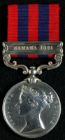 Michael Henry O'Brien : India General Service Medal (1854) with clasp 'Samana 1891'
