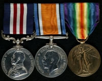 James O'Connor : (L to R) Military Medal; British War Medal; Allied Victory Medal