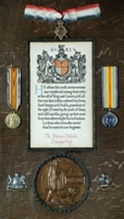 Harry Oldfield : (Clockwise from top) 1914-15 Star; British War Medal; Allied Victory Medal
