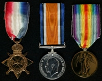 William Kirkpatrick Orford : (L to R) 1914-15 Star; British War Medal; Allied Victory Medal