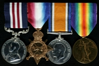 John Palin : (L to R) Military Medal; 1914-15 Star; British War Medal; Allied Victory Medal