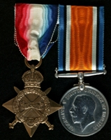 Alfred Pannett : (L to R) 1914-15 Star; British War Medal