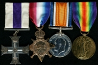 Alfred Parkinson : (L to R) Military Cross; 1914-15 Star; British War Medal; Allied Victory Medal