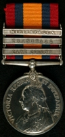 Charles Pearce : Queen's South Africa Medal with clasps 'Cape Colony', 'Transvaal', 'Wittebergen'
