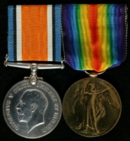 James Pearcey : (L to R) British War Medal; Allied Victory Medal