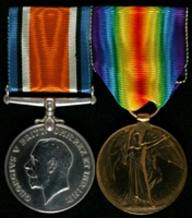 John Peat : (L to R) British War Medal; Allied Victory Medal