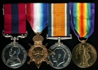 Thomas Pickford : (L to R) Distinguished Conduct Medal; 1914-15 Star; British War Medal; Allied Victory Medal;