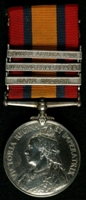 Horatio Garnet Pierce : Queen's South Africa Medal with clasps 'Cape Colony', 'Orange Free State', 'South Africa 1901'