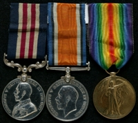 Alfred Eastwood Raw : (L to R) Military Medal; British War Medal; Allied Victory Medal