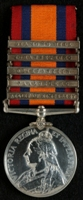 Charles Woodiwiss Rhodes : Queen's South Africa Medal with clasps 'Relief of Kimberley', 'Paardeberg', 'Driefontein', 'Johannesburg', 'Diamond Hill'