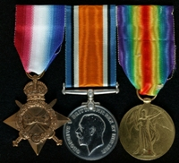 George Alfred Richards : (L to R) 1914-15 Star; British War Medal; Allied Victory Medal