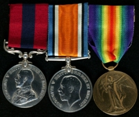 Frederick Richardson : (L to R) Distinguished Conduct Medal; British War Medal; Allied Victory Medal