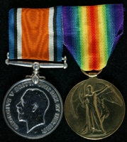 Herbert Richardson : (L to R) British War Medal; Allied Victory Medal