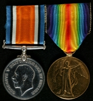 Robert Nuttall Roberts : (L to R) British War Medal; Allied Victory Medal
