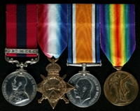 William Roberts : (L to R) Distinguished Conduct Medal and Bar; 1914-15 Star; British War Medal; Allied Victory Medal