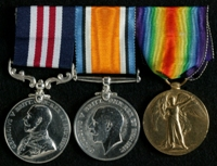 James Russell : (L to R) Military Medal; British War Medal; Allied Victory Medal
