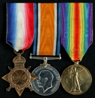 George Sayce : (L to R) 1914-15 Star; British War Medal; Allied Victory Medal