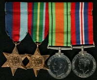 Edward Schofield :  (L to R) 1939-45 Star; Pacific Star; 1939-45 Defence Medal; 1939-45 War Medal