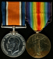 Sidney Scorer : (L to R) British War Medal; Allied Victory Medal