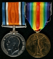 Charles Henry Sharpe : (L to R) British War Medal; Allied Victory Medal