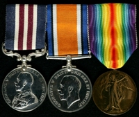 Donald Shenton : (L to R) Military Medal; British War Medal; Allied Victory Medal