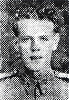 Roland Smith : Photograph of Roland from the Oldham Evening Chronicle, 15th January 1944.  Held in Oldham Local Studies and Archives.