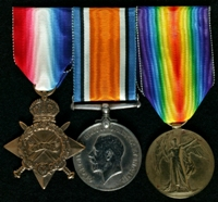 Fred Smith  : (L to R) 1914-15 Star; British War Medal; Allied Victory Medal