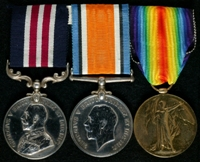 William Thompson : (L to R) Military Medal; British War Medal; Allied Victory Medal