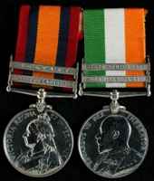 Joseph Thornley : (L to R) Queen's South Africa Medal with clasps 'Relief of Ladysmith', 'Belfast'; King's South Africa Medal with clasps 'South Africa 1901', 'South Africa 1902'