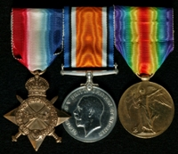 George Peter Tyson : (L to R) 1914-15 Star; British War Medal; Allied Victory Medal