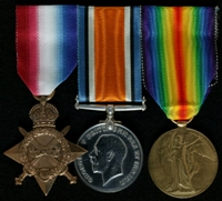 Joseph Edmund Tyson : (L to R) 1914-15 Star; British War Medal; Allied Victory Medal