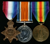 Walter Vickers : (L to R) 1914-15 Star; British War Medal; Allied Victory Medal