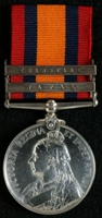 J. Walker : Queen's South Africa Medal with clasps 'Natal', 'Transvaal'