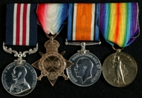 Frederick George Walton : (L to R) Military Medal; 1914-15 Star; British War Medal; Allied Victory Medal