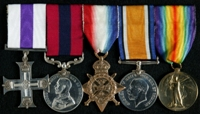 Henry Waters : (L to R) Military Cross; Distinguished Conduct Medal; 1914 Star; British War Medal; Allied Victory Medal