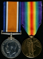 William Watson : (L to R) British War Medal; Allied Victory Medal