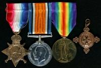 Frederick Thomas Wheelhouse : (L to R) 1914-15 Star; British War Medal; Allied Victory Medal; St John Ambulance Association Medallion